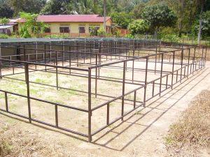Rangka Kolam siap dipasang
